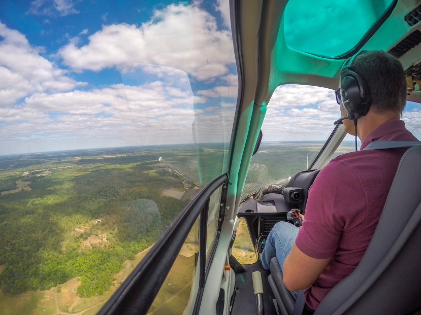 Helicopter - Warren flying